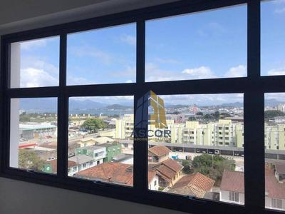 Ótima Sala Comercial Com Vista Pro Mar, 30 M², Prédio Moderno, Com Estacionamento Rotativo! Sa0241 - Sa0241