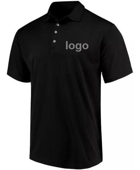 Lote 10camisetas Polo Bordada Personalizada Sua Logo Empresa