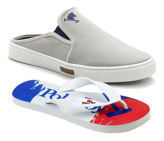 Babuche Slip On Mule Polo Joy Masculino Casual C/ Sandalia