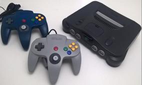 Nintendo 64 + 2 Controle Original + Fonte + Av+ Jogo Brinde