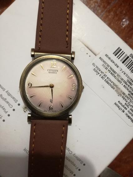 Reloj Citizen Cuarzo Vintage Extra Plano Modelo Raro