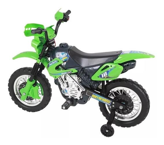 Moto Elétrica Infantil Verde 6v