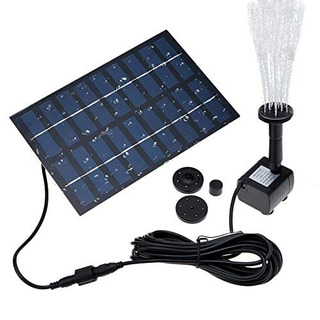 Latitop Fuente Solar Independiente De 18 W Sumergible Con En