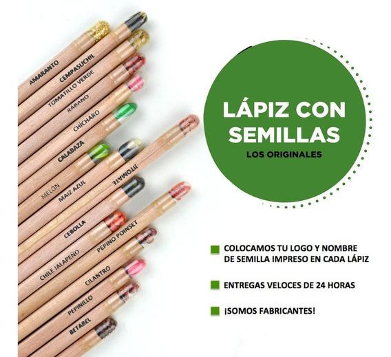Lápiz Con Semillas Ecológico 30 Pz Personalizable Con Envío