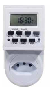 Timer Temporizador Digital Tomada Energia Bivolt 2200w 10a