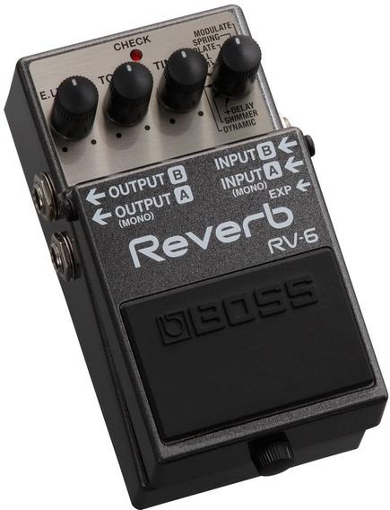 Pedal De Guitarra Boss Rv-6 Reverb Rv6 Serve Violão E Baixo