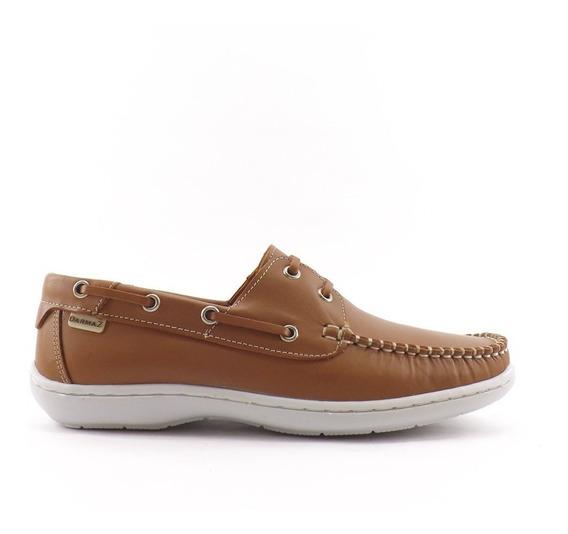 Zapatos Nautico Acordonado Cuero Hombre Darmaz
