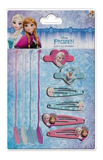 Frozen Elsa Anna Set Hebillas Trenzas Gomitas Lic Original