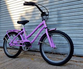 Bicicleta Niños Niñas Barbie Rodado 16 Violeta Buen Estado.