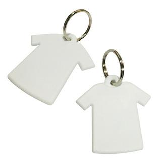 Llaveros Camiseta Sublimables De Polimero Blanco 20 Unidades