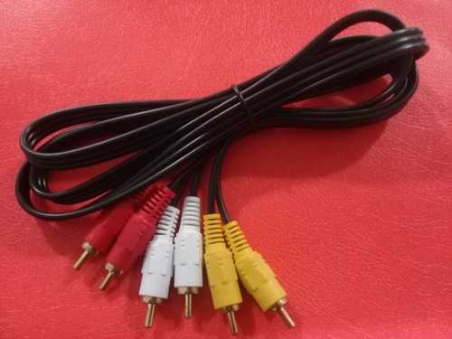 Cable Audio Y Video 3 Rca Macho 5m