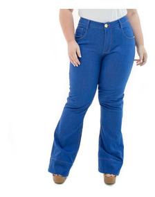 b2e0519e7e411c Calça Jeans Feminina Flare Missy Plus Size Caj216