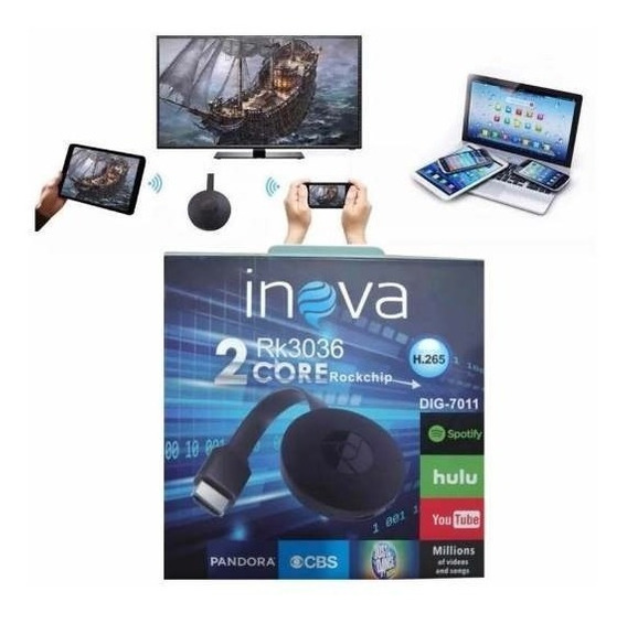 Chromecast Inova Rk3036 Hdmi 1080p Inova
