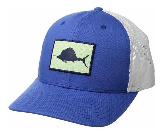 Columbia Pfg - Gorra De Malla Vivid Blue/gingham Fish