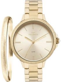 Kit Relógio Technos Feminino Com Bracelete 2035mmc/k4x