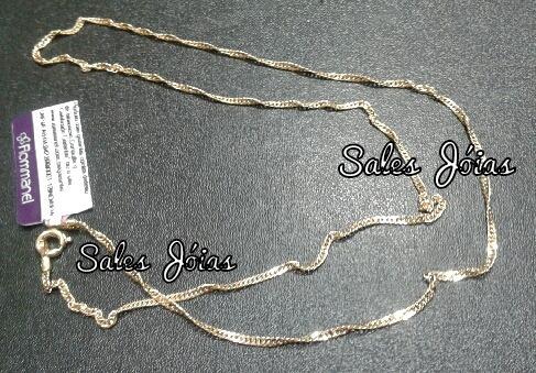 Cordão Feminino Rommanel Fio Cingapura 50cm 530591