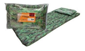 Kit Camping Colchonete Travesseiro Com Bolsa Para Carregar