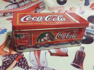 Coca Cola Lata Antigua Camión Vela Año 2000 14x5 Cm
