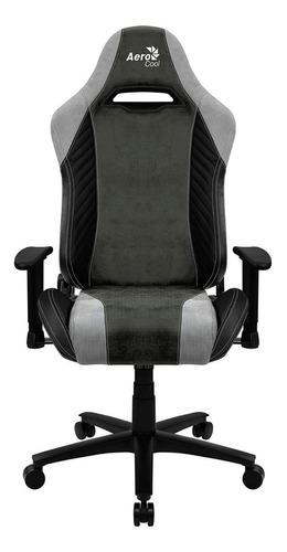 Imagen 1 de 6 de Silla de escritorio AeroCool Baron gamer ergonómica  hunter green con tapizado de cuero sintético y piel sintética