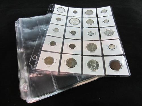 Imagen 1 de 7 de Hoja Cowens De 20 Espacios Para Monedas De Colección