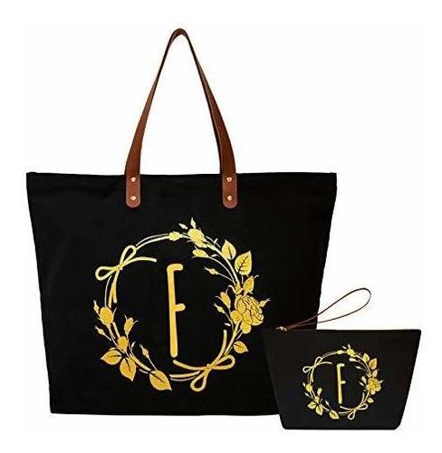 Imagen 1 de 6 de Elegantpark Regalos Con Monograma Para Mujeres F Bolsa De Ma