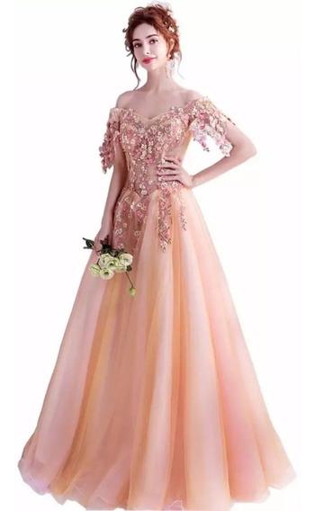 Vestido De Fiesta Coral Envío Gratis P-1206005