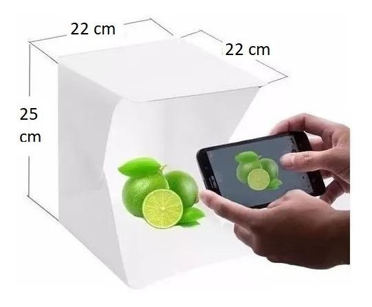 Mini Estúdio Fotografia De Produtos Foto Box 20 Led Montável