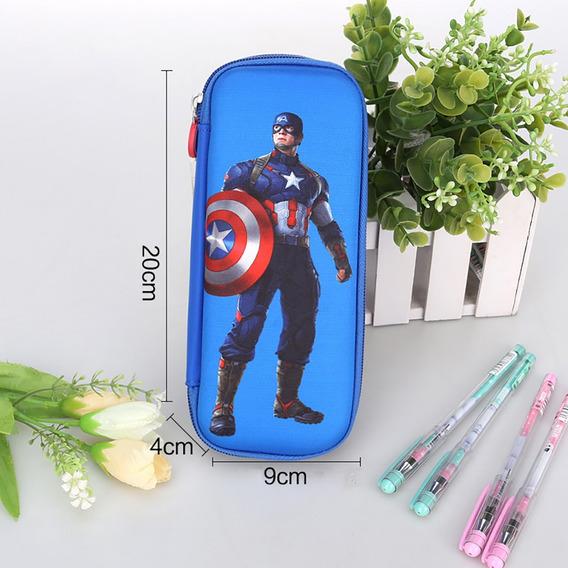 Superhero Pencil Case Azul Capitão América