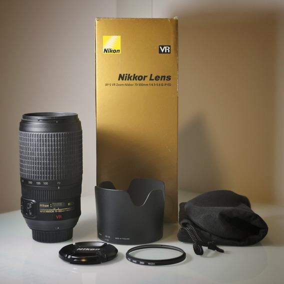 Lente Nikkor 70-300mm F/4.5-5.6 G If-ed Vr + Filtro Hoya