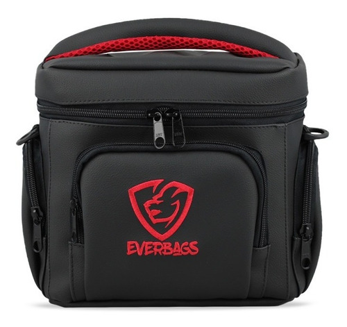 Bolsa Térmica Porta Marmita Fitness Preto Lancheira Everbags