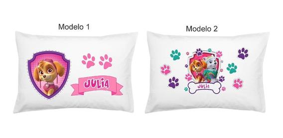 Fronha Personalizada Patrulha Canina Menina Infantil