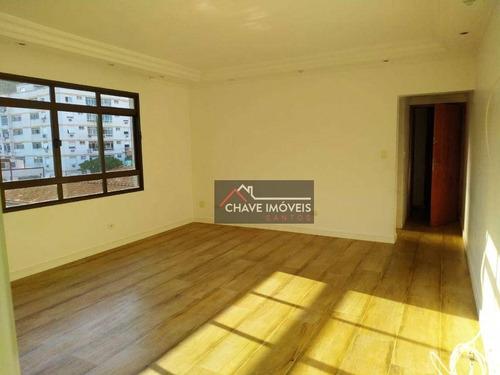 Imagem 1 de 30 de Apartamento Com 3 Dormitórios 1 Suíte, 2 Vagas, À Venda, 113 M² Por R$ 530.000 - Marapé - Santos/sp - Ap3039