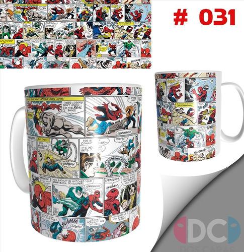 Taza Comics Coleccionables Spiderman Hombre Araña  #031