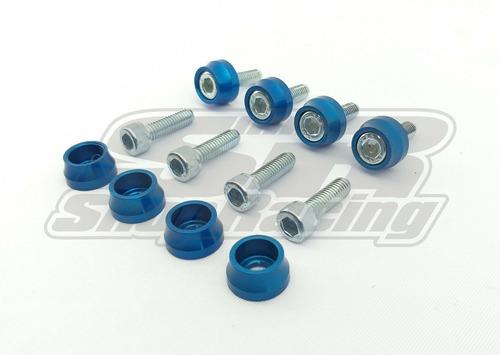 Arruela Anodizada Azul Parafuso Inox M6 Tampa De Válvulas