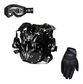Combo Colete + Óculos + Luva 788 Pro Tork Trilha Motocross
