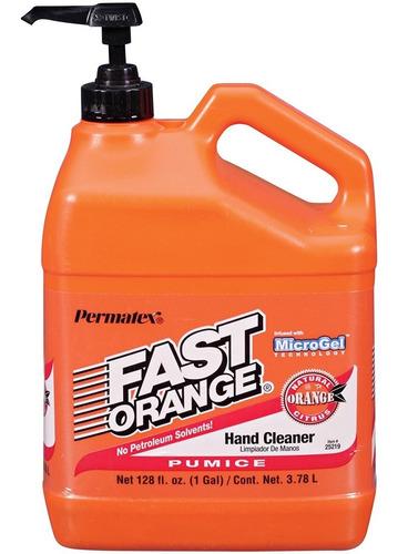 Crema Limpia Manos Mecánico Fast Orange Usa 3.78l