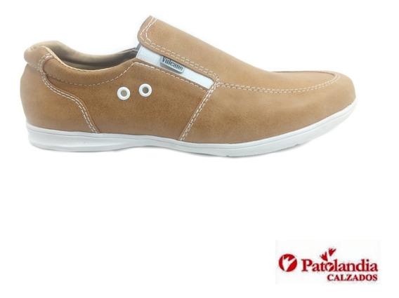 Zapatos Hombre Vulcano Simil Cuero Casual Elastico N°39 / 44