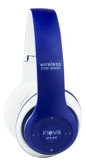 Fone De Ouvido Headset Estéreo Bluetooth Sem Fio Fon-2045d -