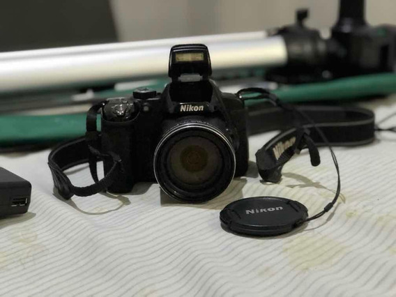 Câmera Semi-profissional Nikon Coolpix P520 C/ Tripé E +
