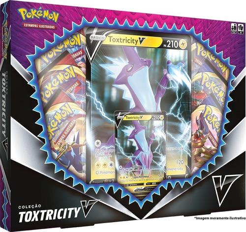 Box Pokémon Coleção Toxtricity V Carta Gigante - Copag