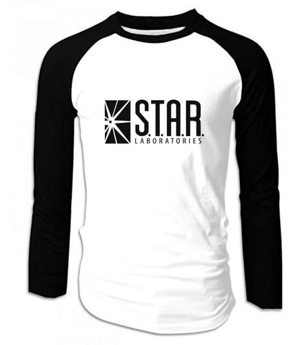 Camiseta Star Laboratories Manga Larga Camibuso
