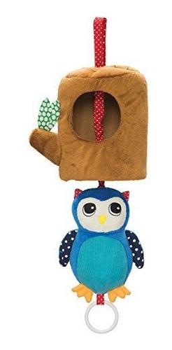 Imagen 1 de 3 de Manhattan Toy Lullaby Owl Pull Musical Cuna Y Juguete Para B