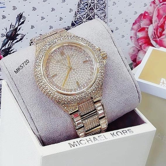 Relógio Michael Kors Mk5720 Ouro Pedras Swarovski - Camille