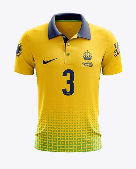 Mockup Futebol Yellow Images Gola Polo (frente E Costa)