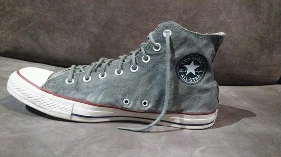 Zapatillas Converse All Star Botita Talle 44 Gris Impecables