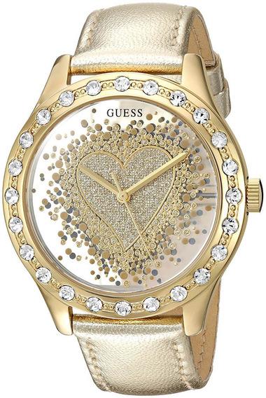 Relógio Guess Trendy U0909l2 Essence Of Love Gold-tone Heart