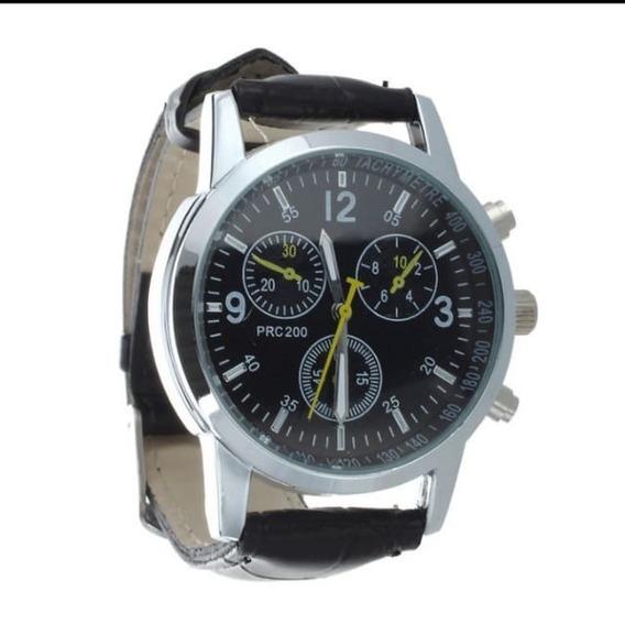 Relógio Quartzo Sport Casual E Sofisticado Preto Masculino