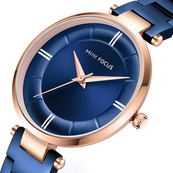 Casual Design De Aço Inoxidável Mulheres Relógio De Pulso Se
