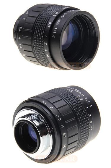 Lente Cctv 50mm F1.4 Sony Nex Entrg Internacional