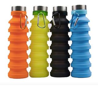 Botella De Silicón Para Agua, 550ml 10 Pz, Envio Gratis